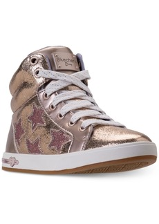 Skechers Little Girls' Shoutouts- Starry Shine High Top Casual Sneakers from Finish Line
