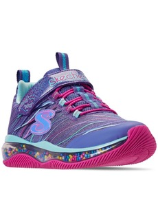 Skechers Little Girls' Skech-Air: Jumping' Dots Adjustable Strap Casual Sneakers from Finish Line