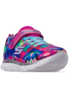 Skechers Little Girls' Skech Appeal 2.0 - Color Me Slip On Adjustable Strap Casual Sneakers from Finish Line