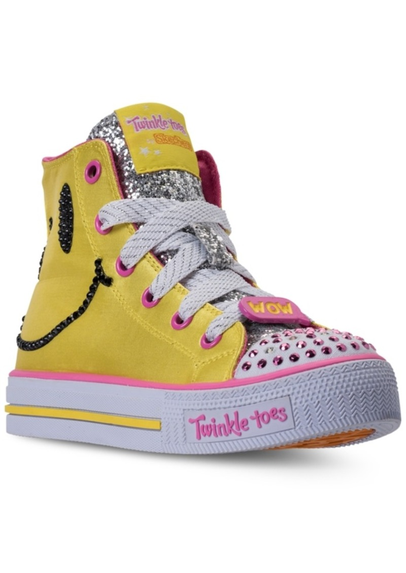 1bc4b1d9509f Little Girls  Twinkle Toes  Shuffles - Emoji Light-Up High Top Casual  Sneakers from Finish Line. Skechers