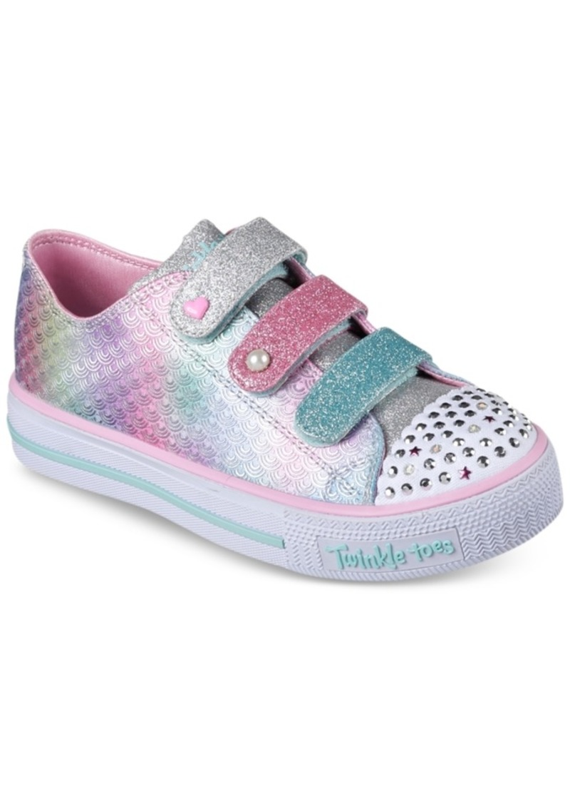 d87106cdeabc Little Girls  Twinkle Toes  Shuffles - Ms. Mermaid Light-Up Casual Sneakers  from Finish Line. Skechers