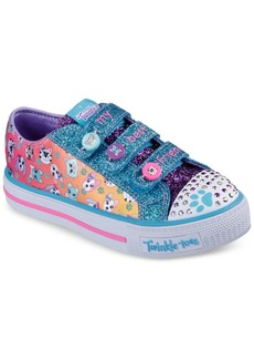 Skechers Little Girls' Twinkle Toes: Shuffles - Paw Party Light-Up Stay-Put Closure Casual Sneakers from Finish Line