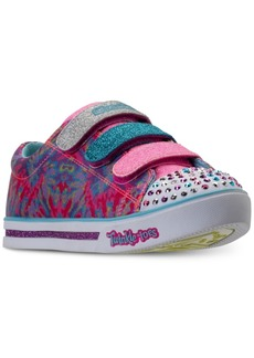 Skechers Little Girls' Twinkle Toes: Shuffles - Sparkle Glitz - Pop Party Light-Up Casual Sneakers from Finish Line