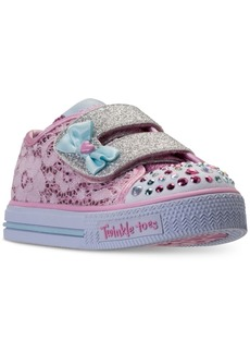 Skechers Toddler Girls' Twinkle Toes: Shuffles - Sweet Stepper Light-Up Casual Sneakers from Finish Line