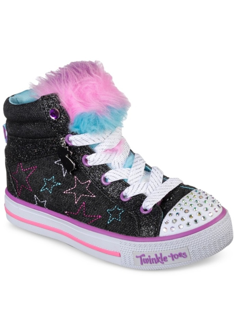 e2b9cabb0557 Little Girls  Twinkle Toes  Shuffles - U-Turn Mid Light-Up Casual Sneakers  from Finish Line. Skechers
