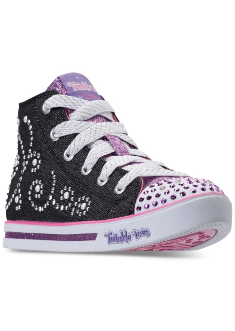 906c096b89fb Little Girls' Twinkle Toes: Sparkle Glitz - Pearl Girl Light-Up High Top  Casual Sneakers from Finish Line. Skechers
