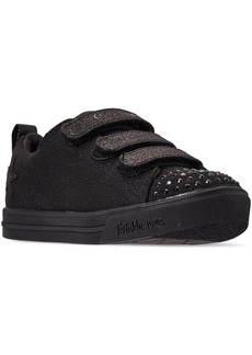 Skechers Little Girls Twinkle Toes Sparkle Scholar Stay-Put Closure Casual Fashion Sneakers from Finish Line