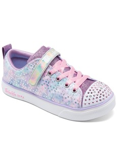 Skechers Little Girls Twinkle Toes Twinkle Breeze 2.0 Unicorn Magic Light-Up Stay-Put Closure Casual Sneakers from Finish Line