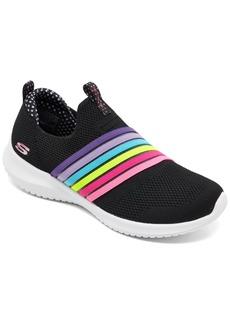 Skechers Little Girls Ultra Flex Brightful Day Casual Sneakers from Finish Line