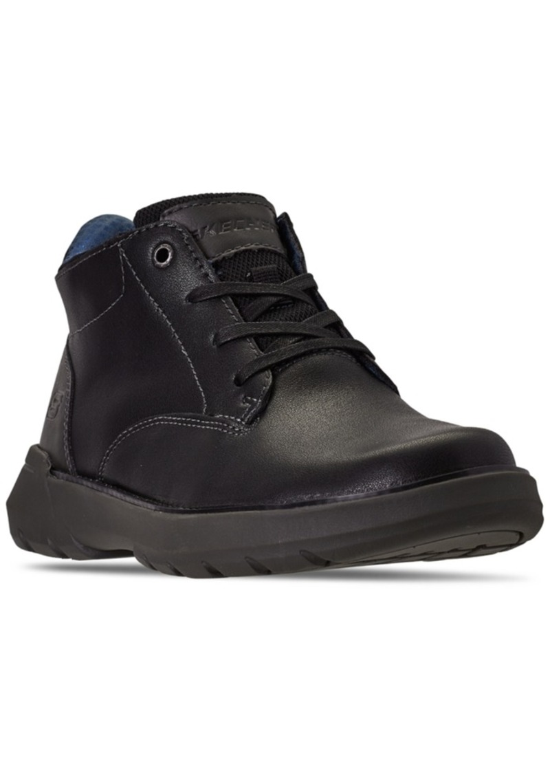 Skechers Men's Relaxed Fit Doveno Molens Oxford Boots from Finish Line