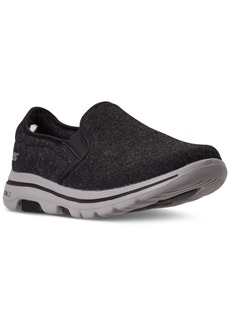 Skechers Men's Wash-a-Wool GoWalk 5 Flint Slip-On Walking Sneakers from Finish Line