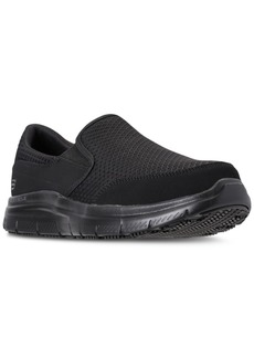 Skechers Men's Work Relaxed Fit: Flex Advantage - McAllen Sr Slip Resistant Wide Width Casual Sneakers from Finish Line