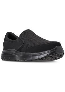 Skechers Men's Work Relaxed Fit: Flex Advantage - McAllen Sr Slip Resistant Wide Width Casual Sneakers from Finish Line
