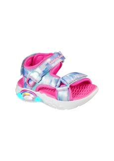 SKECHERS Rainbow Racer Light-Up Sandal (Toddler & Walker)