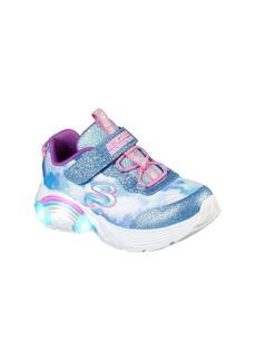 SKECHERS Rainbow Racer Light Up Sneaker (Walker & Toddler)