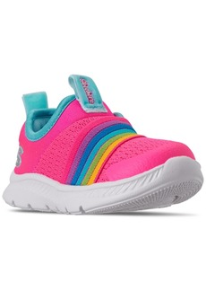 Skechers Toddler Girls Comfy Flex 2.0 Rainbow Delight Slip-On Running Sneakers from Finish Line