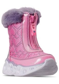 Skechers Toddler Girls Heart Lights Happy Hearted Winter Boots from Finish Line