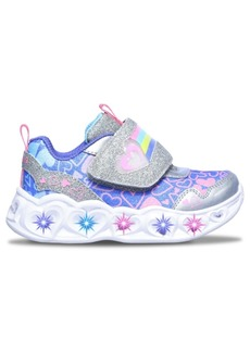 Skechers Toddler Girl's Rainbow Strap Light-Up Stay-Put Closure Running Sneakers from Finish Line
