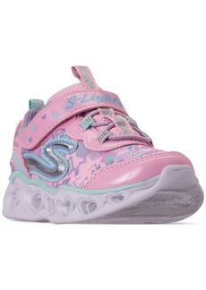 Skechers Toddler Girls' S Lights: Heart Lights Slip-On Casual Sneakers from Finish Line