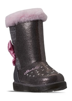 Skechers Toddler Girls Twinkle Toes Glitzy Glam Cozy Cuties Boots from Finish Line