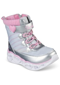 Skechers Toddler Girls' S Lights Heart Chaser Boots from Finish Line