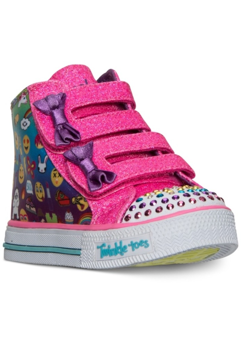 Toddler Girls' Twinkle Toes: Shuffles Baby Talk High Top Sneakers from Finish Line