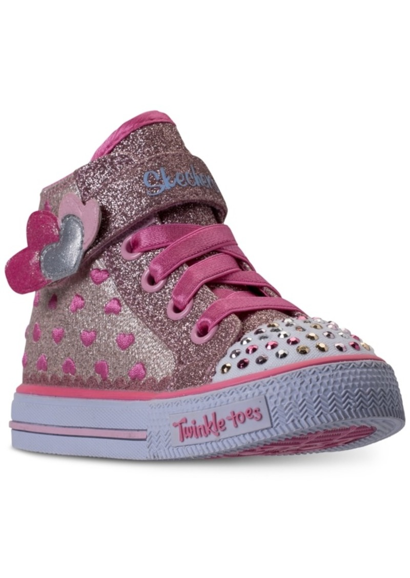 Toddler Girls' Twinkle Toes: Shuffles Cutie Kicks Light Up High Top Casual Sneakers from Finish Line