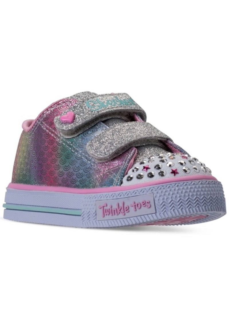7c1f29402518 Skechers Toddler Girls  Twinkle Toes  Shuffles - Ms. Mermaid Light-Up Casual