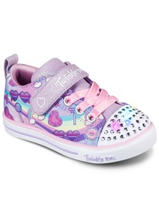 Skechers Toddler Girls Twinkle Toes Sparkle Light - Rainbow Skies Casual Sneakers from Finish Line