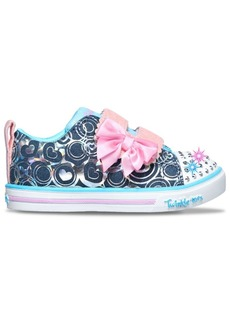 Skechers Toddler Girl's Twinkle Toes Sparkle Lite - Hearts Stay-Put Closure Casual Sneakers from Finish Line