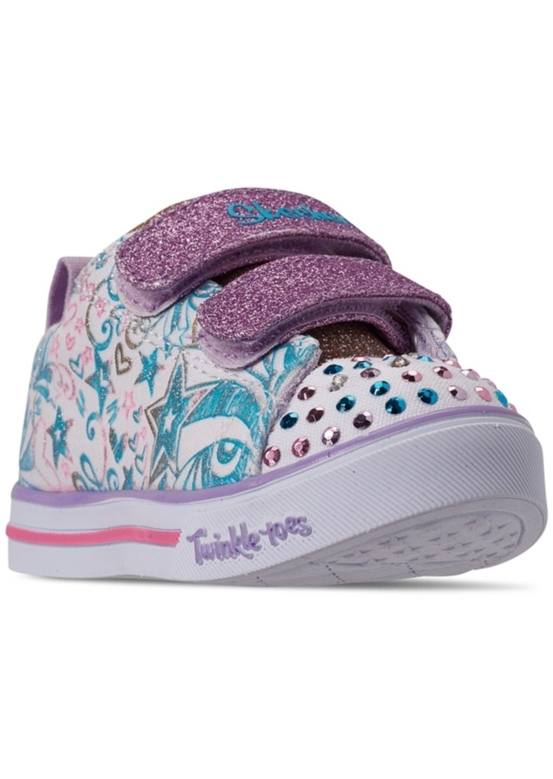 Toddler Girls' Twinkle Toes: Sparkle Lite Sparkle Scribble Light Up Casual Sneakers from Finish Line