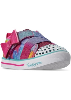 Skechers Toddler Girls Twinkle Toes Sparkle Lite Rainbow Cutie Stay-Put Closure Casual Sneakers from Finish Line