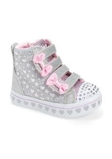 SKECHERS Twi-Lites Twinkle Toes Heather & Shine Sneaker (Walker & Toddler)