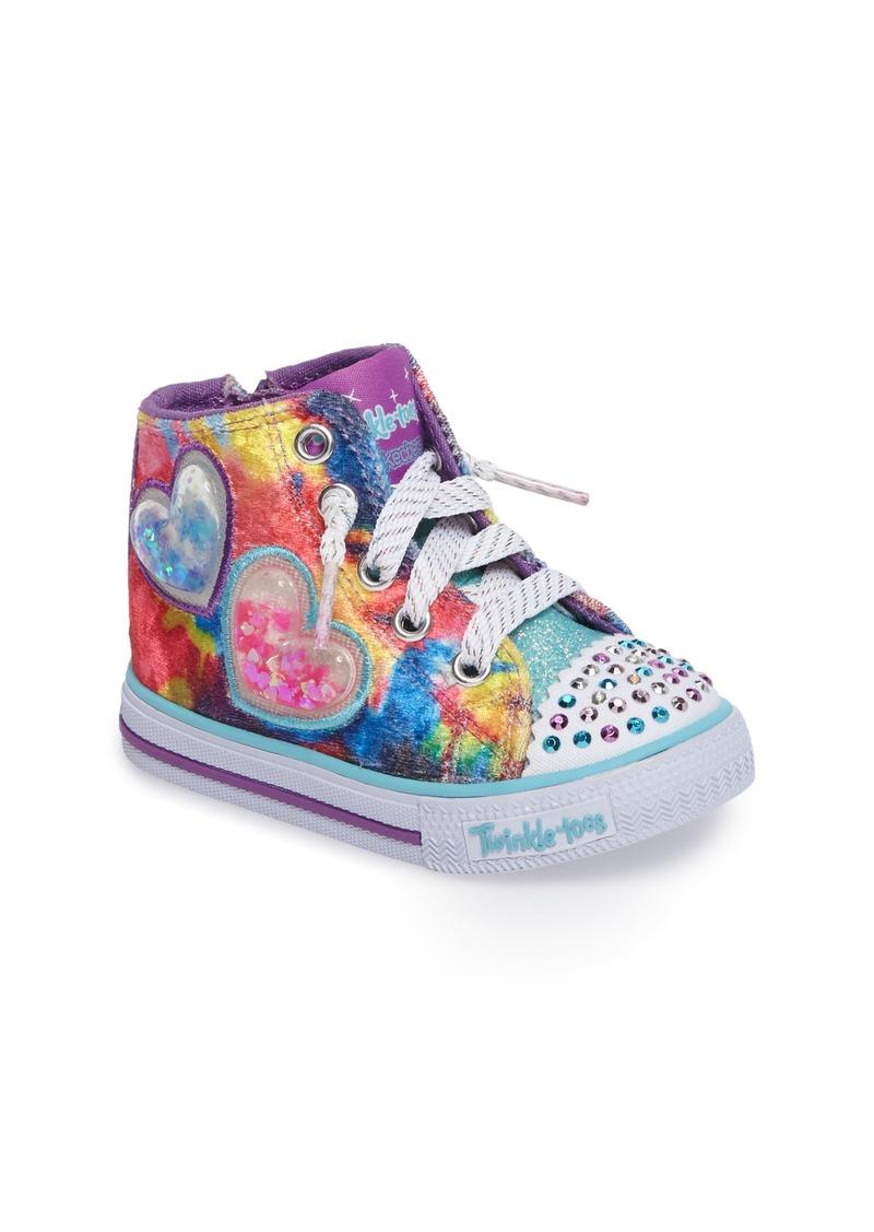 06c2913c93d0 SKECHERS Twinkle Toes Shuffles Light-Up High Top Sneaker (Walker   Toddler)
