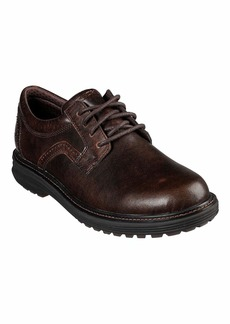 Skechers USA Men's Round Toe Lace Up Oxford