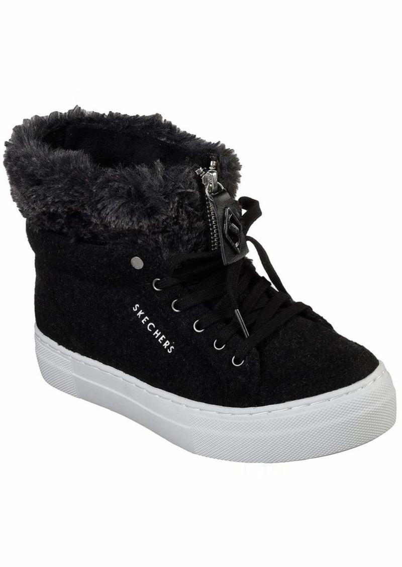 Skechers Women's Alba-Fuzzy Topers Sneaker   M US