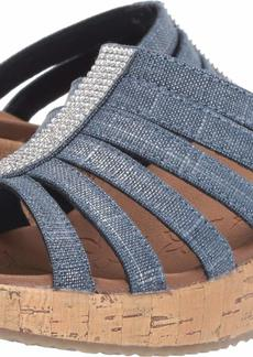 Skechers Women's Beverlee-Multi-Strap Rhinestone Sandal Wedge   M US