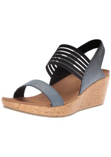 Skechers Women's Beverlee-Smitten Kitten Wedge Sandal