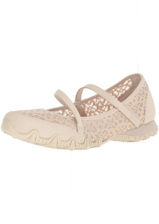 Skechers Women's Bikers-Provocative Laced Upper Detail a Relaxed Fit Mary Jane Flat