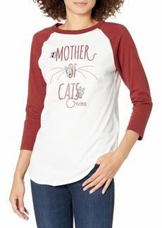 Skechers Women's Bobs for Dogs 3/4 Length Graphic Baseball T-Shirt  S