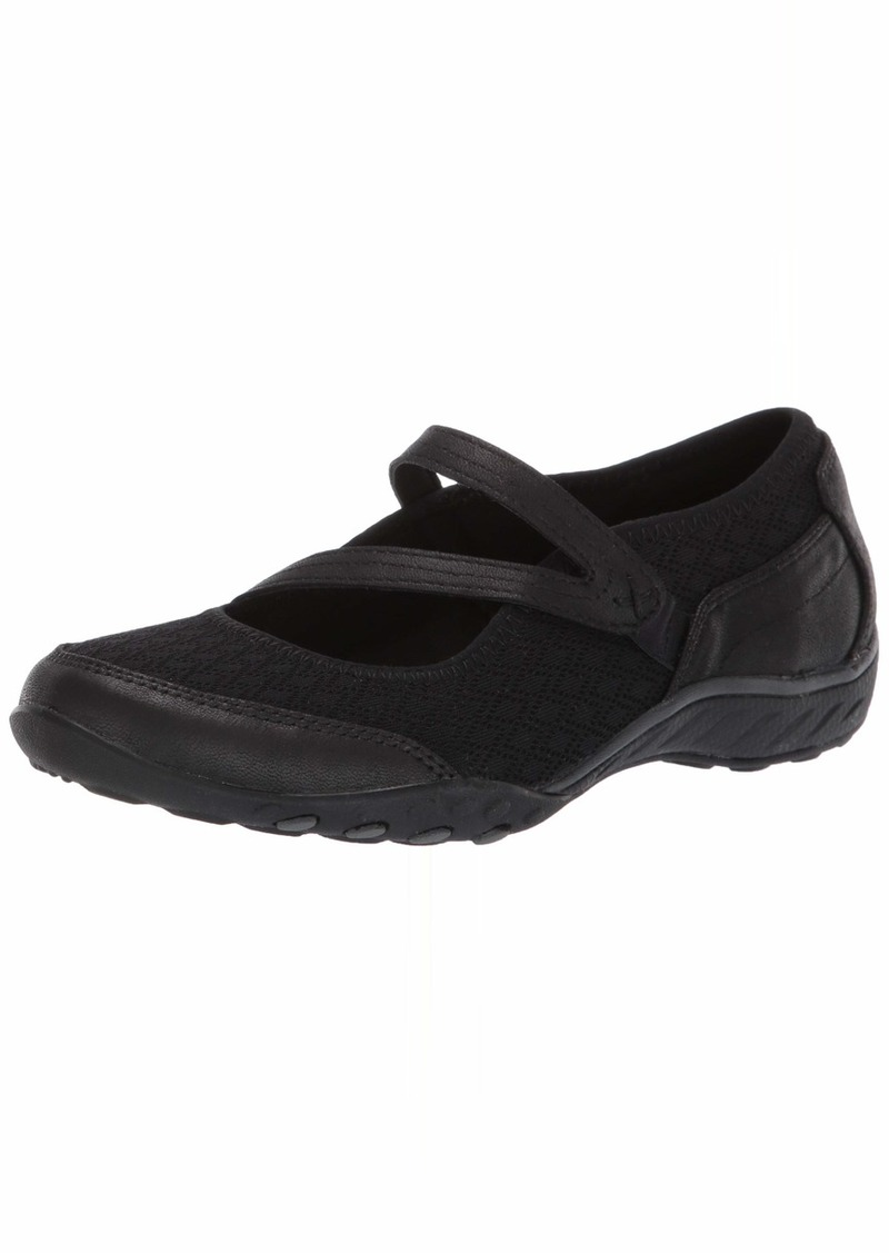 Skechers Women's Breathe-Easy-in Good Spirits Sneaker BLK  M US