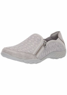 Skechers Women's Breathe-Easy-Wise Words Sneaker LTGY  M US