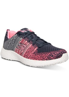 Skechers Women's Burst Abstract Flat Knit Running Sneakers from Finish Line