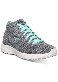 Skechers Women's Burst Chukka Flat Knit Running Sneakers from Finish Line