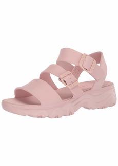 Skechers Women's Cali Gear D'Lite 2.0-Molded 3-Strap Sling Back with Luxe Foam Sandal   M US