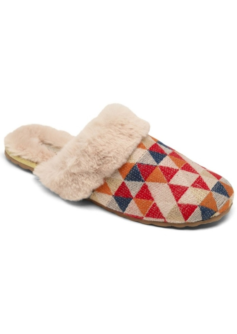 Skechers Women's Cleo Cozy Aztek Slip-On Faux Fur Comfort Slippers from Finish Line