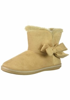 Skechers Women's Cozy Campfire-Microfiber Slipper Boot with Bow   M US