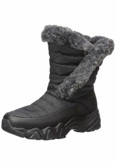 Skechers Women's D'Lites 2.0-Mid Quilted Sneaker Boot with Fur Trim Snow   M US