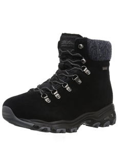 Skechers Women's D'Lites-Short Lace up Winter Boot M US