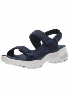 Skechers Women's D'Lites Ultra-Camp Cool-Adjustable Asymmetrical Slingback Sandal   M US